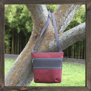 Vegan Cruelty-Free Three-Zip Cross Body Tote