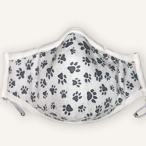 Face Mask with Dog Paw Prints