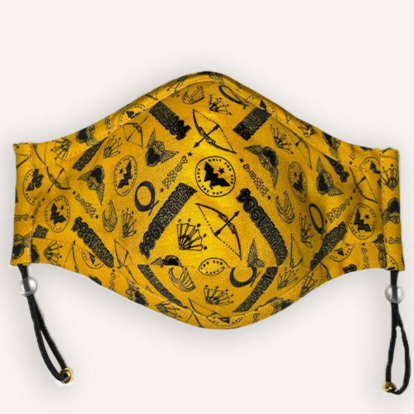 classic wonder woman 1984 face mask in mustard yellow
